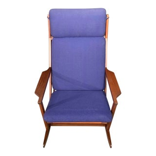 Poul Volther Danish Rosewood Mid Century Modern Rosewood Rocker Rocking Chair For Sale