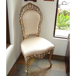 Moroccan Style Mother of Pearl Inlaid Chair Preview