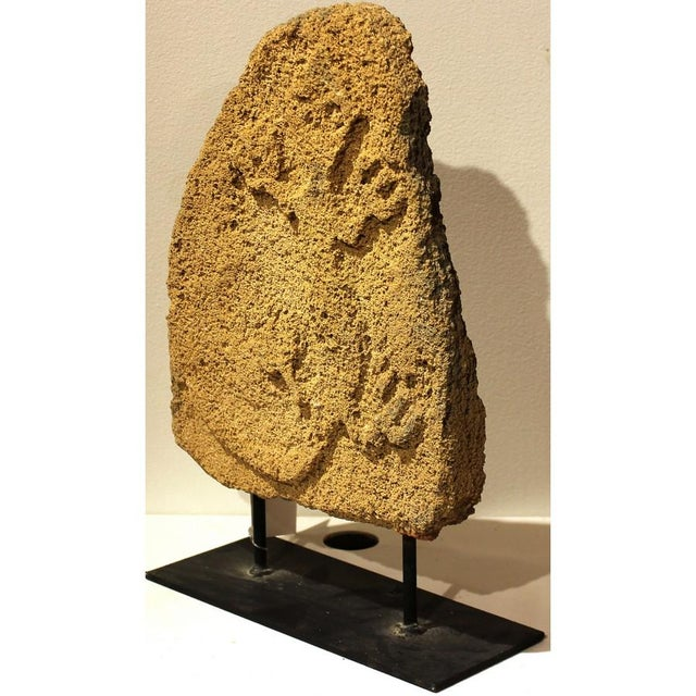 Coral Stone on Stand With Lizzard - Image 2 of 4