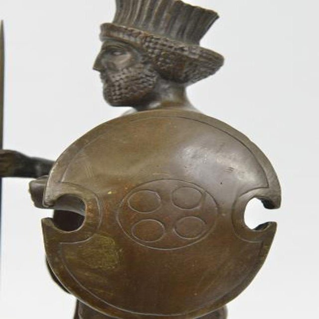 Cyrus the Great Persian King Kanaev Bronze Sculpture Marble Base Statue For Sale - Image 4 of 9