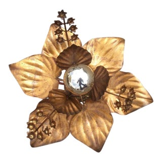 Willy Daro Detailed Floral Hanging Ceiling Fixture - Mid Century Modern For Sale