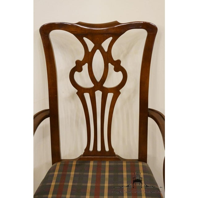 Mahogany Late 20th Century Drexel Heritage Chippendale Style Dining Chair For Sale - Image 7 of 13