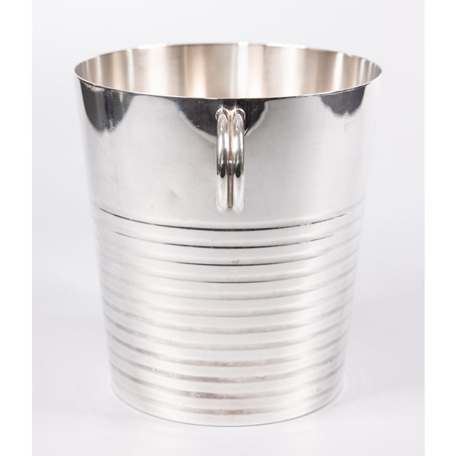 Christofle Art Deco French Christofle Silver Plate Champagne Bucket For Sale - Image 4 of 8