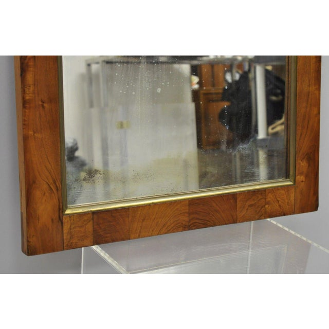 19th Century Vintage American Empire Crotch Mahogany Looking Glass Wall Mirror For Sale - Image 9 of 12
