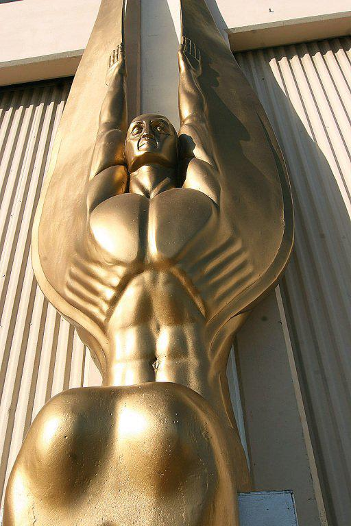 """Superb Art Deco Angel Sculpture """"Wings Of The Republic"""" 