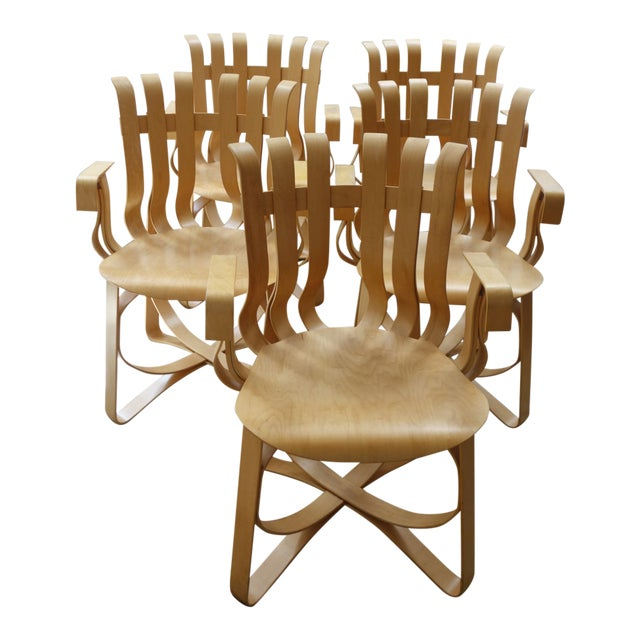 1990s Vintage Frank Gehry Hat Trick Chairs - Set of 5
