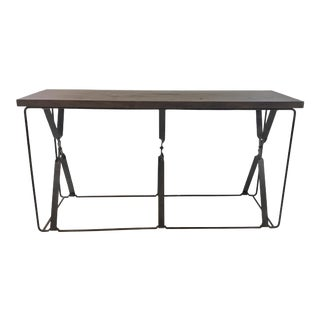 Organic Modern Wood and Metal Gabby Camden Console Table For Sale