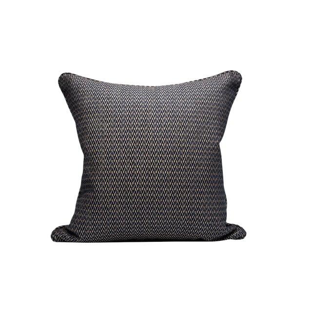 Cortona Chenille Pillow, Indigo For Sale