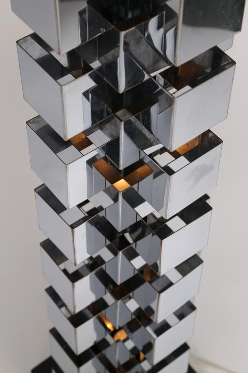 C. JERÉ/ARTISAN HOUSE CHROME TOWER LAMP   Image 5 Of 10