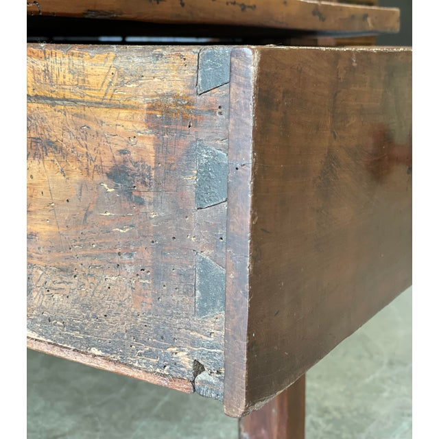 Mid 19th Century 1800's Primitive French Dining/Work Table/Console For Sale - Image 5 of 13