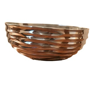 Donna Karan Wave Sculpted Metal Decorative Bowl