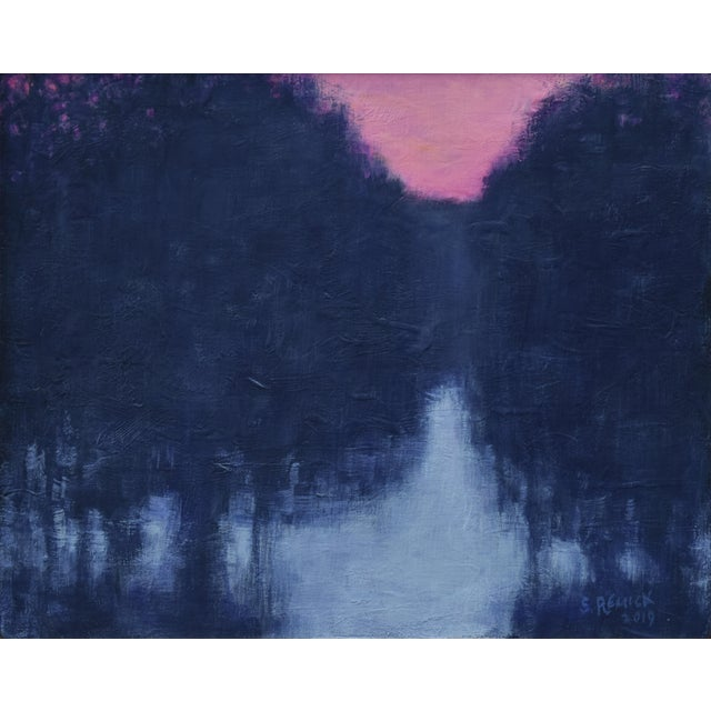 """Stephen Remick """"Snowy Intersection at Dawn"""" Small Contemporary Painting For Sale - Image 10 of 12"""