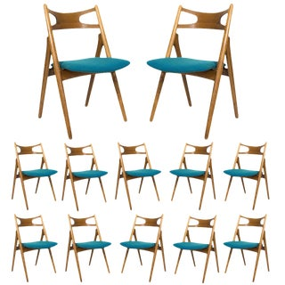 Set of 12 Hans Wegner CH 29 Dining Chairs For Sale