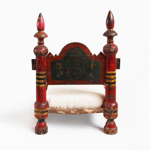Vintage Painted Low Raja Chair - Image 3 of 4