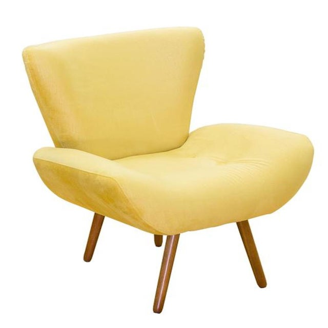 Modern Modern Jaspe Yellow Armchair For Sale - Image 3 of 3
