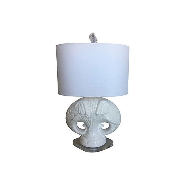 Italian Elephants Lamp & Shade For Sale - Image 4 of 13