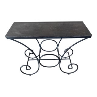 Vintage Console Stone Table For Sale