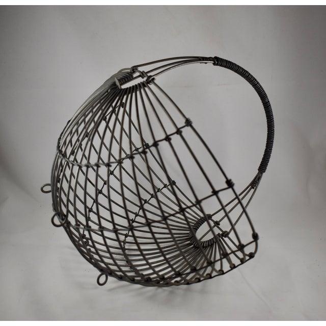 1970s Karl Howard Galvanized Steel Handmade Art Basket, Signed For Sale - Image 4 of 13