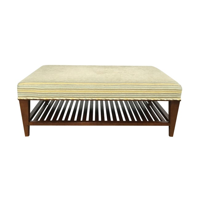 Upholstered Ottoman Coffee Table by Baker - Image 1 of 9