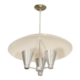 Aluminum Dome Ceiling Fixture With Conical Uplights For Sale