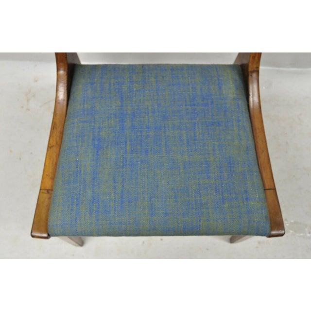Drexel Drexel Dateline John Van Koert Walnut Mid Century Modern Dining Side Chair (A) For Sale - Image 4 of 12