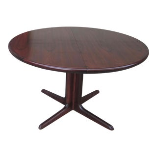 Vintage Skovby Rosewood Round Oval Extension Dining Table