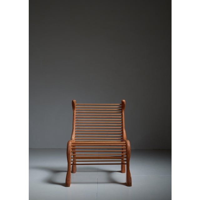 Robert Dice Rare Studio Crafted Chair with Dowel Seating, USA, 1970s - Image 2 of 4