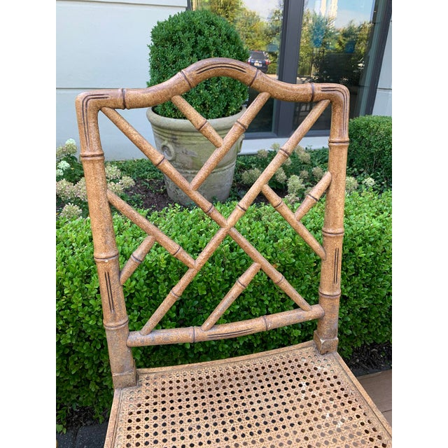 Mid-20th Century Faux Bamboo Dining Chairs- Set of 10 For Sale In Atlanta - Image 6 of 13