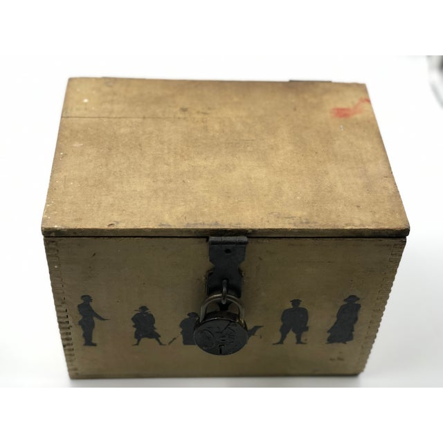 19th Century Silhouette Painted Wooden Box For Sale - Image 10 of 13