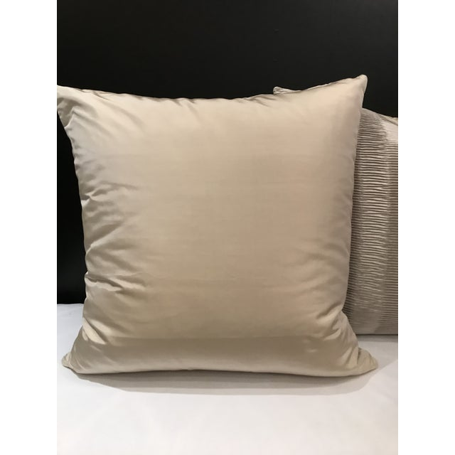 Kravet Italian Kravet Couture Metallic Pleat Pillows - a Pair For Sale - Image 4 of 6