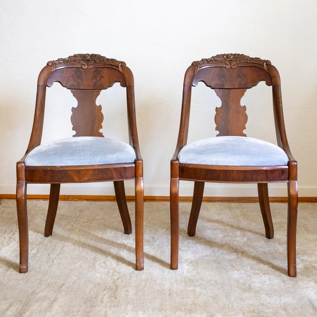 French Empire Gondola Chairs | 19th Century Francois Seignouret | a Pair For Sale - Image 13 of 13