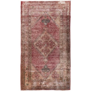 """Vintage Persian Distressed Rug, 2'06"""" X 4'05"""" For Sale"""
