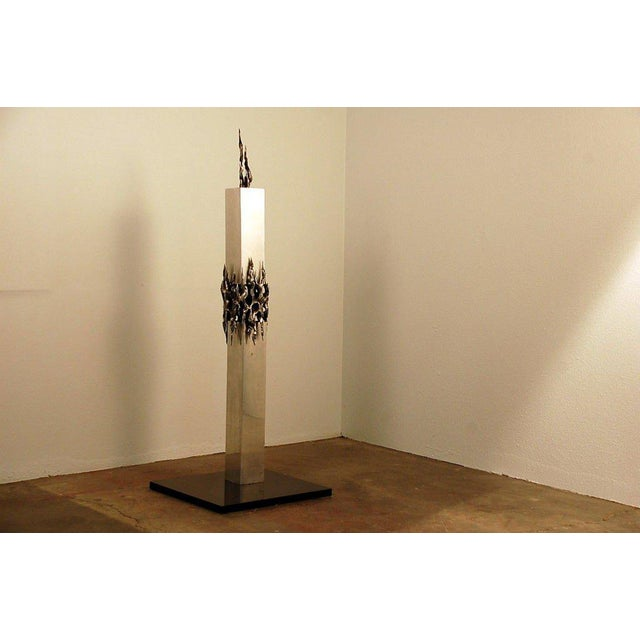 Aluminum 1970s Tall Brutalist Sculpture For Sale - Image 7 of 7