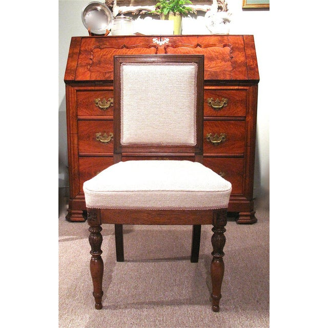 19th Century French Walnut Square Back Chairs - a Pair - Image 8 of 9