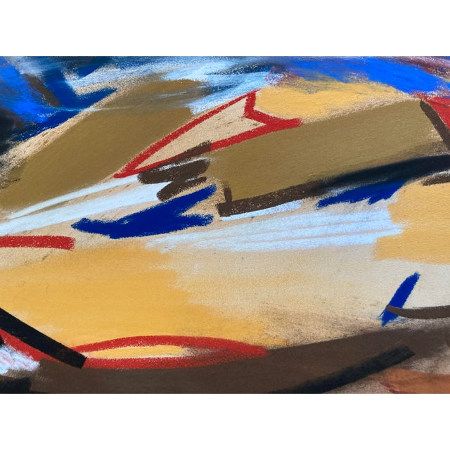 Abstract Contemporary Abstract Pastel Drawing on Paper by Erik Sulander For Sale - Image 3 of 3