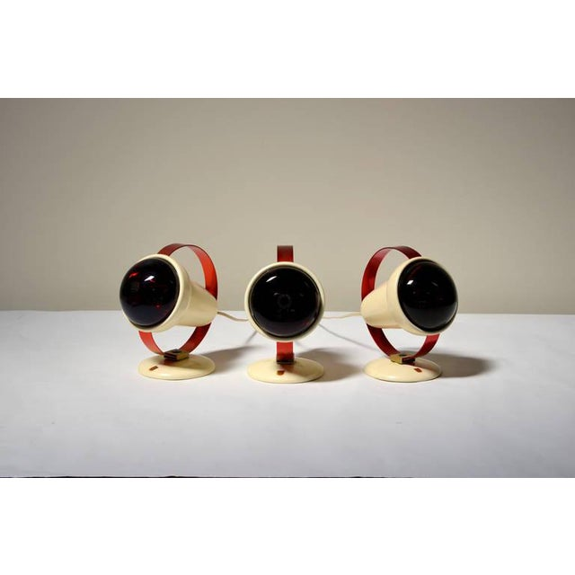 Mid-Century Modern 1950s Charlotte Perriand for Philips Infrared Wall Sconces - Set of 3 For Sale - Image 3 of 9