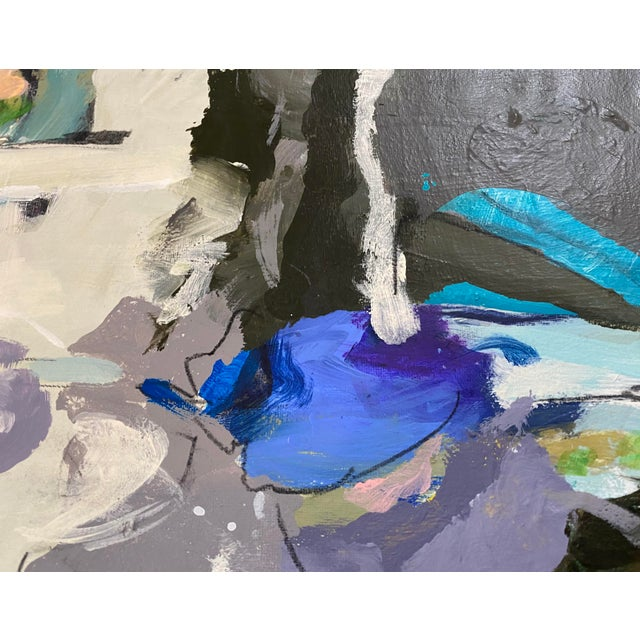 """""""Songs My Mother Taught Me"""" Contemporary Abstract Mixed-Media Painting by Gina Cochran For Sale - Image 9 of 9"""