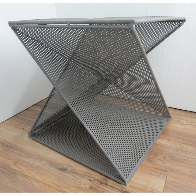 Metal 1950s Mathieu Matégot Geometric Side Tables - A Pair For Sale - Image 7 of 13