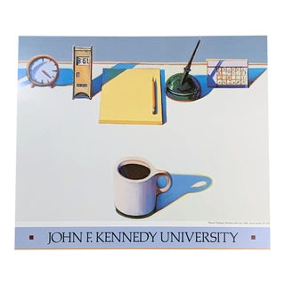 1988 Wayne Thiebaud John F. Kennedy University Poster For Sale