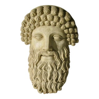 Greek Garden Sculpture of Zeus For Sale