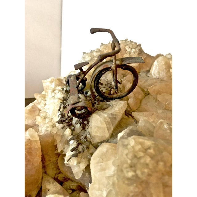 Geode Brass Tree Sculpture For Sale - Image 4 of 7