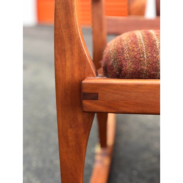 Orange Vintage Mid Century Studio Crafted Rocking Chair For Sale - Image 8 of 13