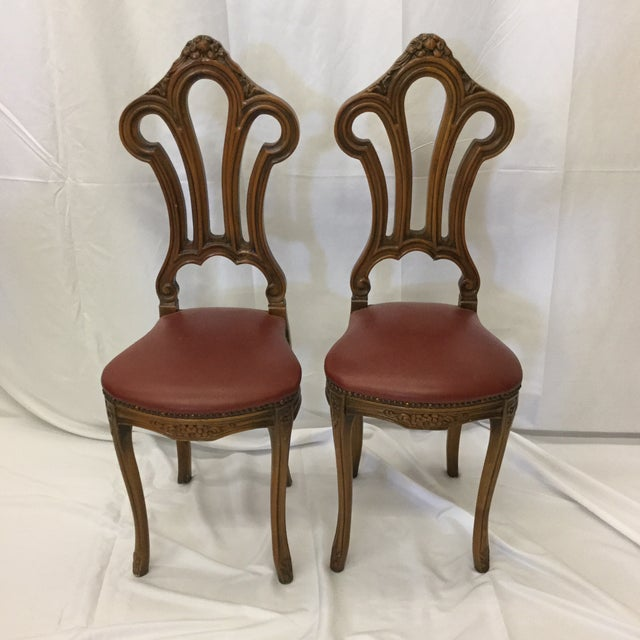 French Style Petite Accent Chairs - a Pair For Sale - Image 12 of 12