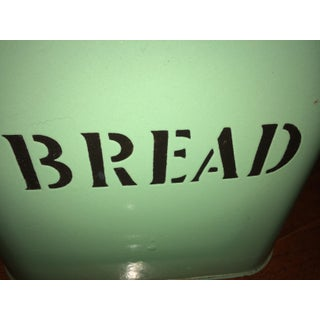 European Enamelware Bread Box, 1930's English, Traditional Mint Green Preview