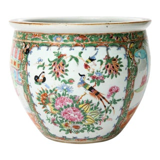 19th Century Chinese Export Rose Medallion Cachepot / Jardiniere
