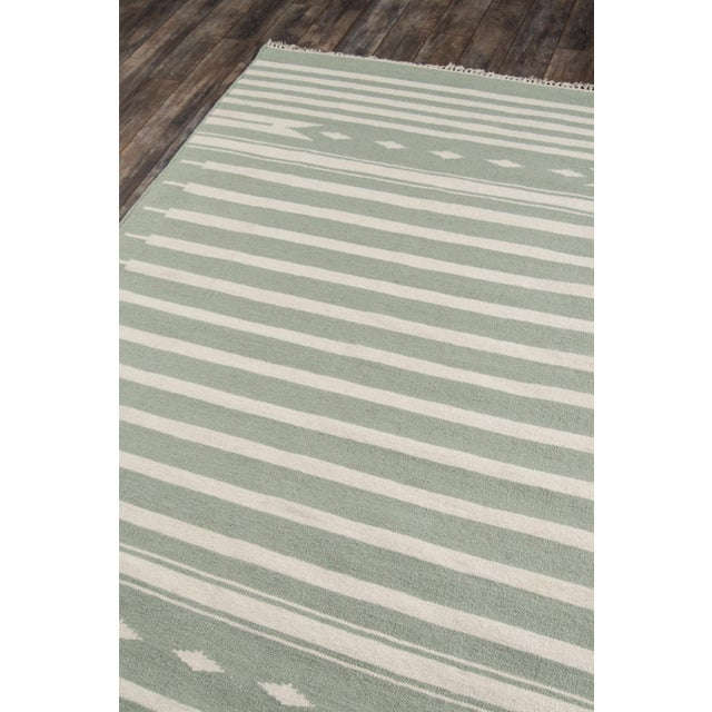 "Erin Gates by Momeni Thompson Billings Light Green Hand Woven Wool Area Rug - 3'6"" X 5'6"" For Sale - Image 4 of 6"