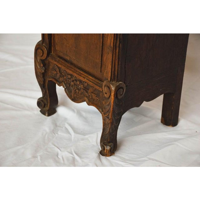 Carved 18th C French Lantern Clock Case With Movement For Sale - Image 11 of 13