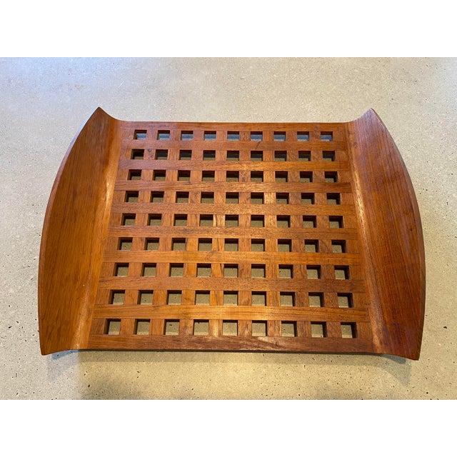 Mid-Century Modern Vintage Jens Quistgaard for Dansk Teak Lattice Tray For Sale - Image 3 of 8