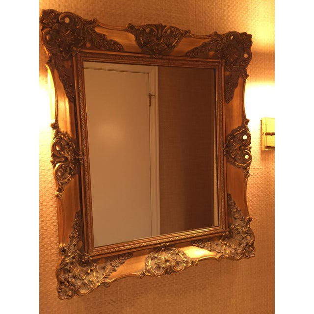 gilded frame mirror perfectly suited for powder room or a part of your gallery wall elegant and timeless