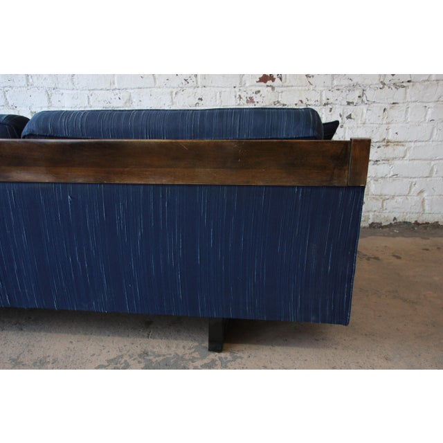Milo Baughman Style Mid-Century Modern Floating Sofa For Sale - Image 10 of 11
